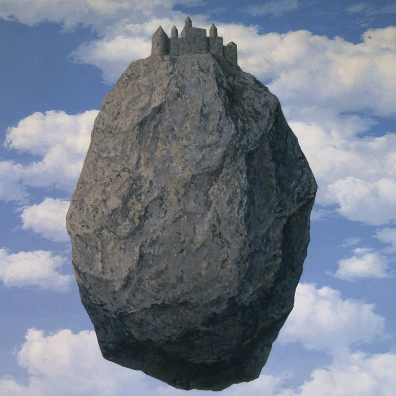 Rene' Magritte, Belgian, 1898-1967 Le Chateau de Pyrenees (The Castle of the Pyrenees), 1959 Oil on canvas, 200 X 145 cm The Israel Museum, Jerusalem Gift of Harry Torczyner, New York B85.0081